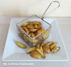 Mini-potatoes de pommes de terre grenailles aux herbes de Provence, facile