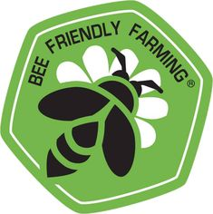 Self-certified Bee Friendly Farmers and Gardeners may use this logo, indicating that their agricultural practices encourage and improve pollinator health.