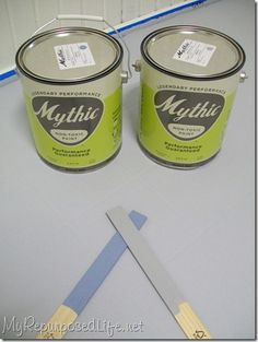 painted linoleum! Also lots of other tips and tricks