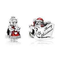 Pandora Mr and Mrs Claus Charm Set BB224