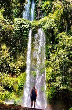 Sendang Gile Waterfall is located just north of Rinjani volcano, In the north region of the island of Lombok in Indonesia. Travel Guides, Travel Tips, Group Travel, Lombok, Travel Memories, Yoga Retreat, Backpacker, Guide Book, Southeast Asia