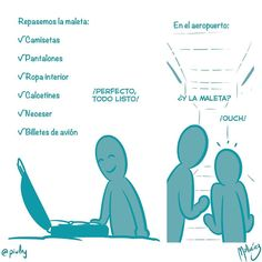 Todo listo : #WebcomicZ 088 : #ClipStudioPaint  #Cintiq  #: #webcomic #comics #comicdiario #dailycomic #comic #tebeo #artistsoninstagram : #DailySketch 819 #blue #azul #viaje #avion #avión #maleta