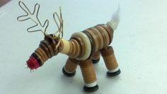 reindeer button ornament