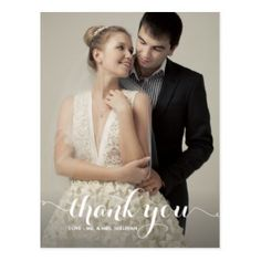 Show your appreciation to friends and relatives who shared your wedding celebration with this charming thank you card.  Or, choose another style from our huge inventory of thank you cards. Customize to suit your fancy, add your own photographs. You can even print your cards on high quality vinyl laminated magnetic cards. For more information, go to https://www.zazzle.com/s/wedding+thank+you+cards/WeddedBliss?rf=238594829138697945  For more wedding stuff, visit us at http://www.weddedbliss.us