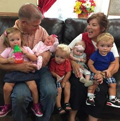 Gil and Kelly Bates and five grandchildren Kelly Bates, Whitney Bates, Brandon Keilen, Katie Jackson, Bates Family Blog, Anderson University, Chemistry Class, 19 Kids, Duggar Family