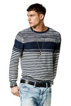 Salsa Store - Suéter de manga larga y cuello redondo