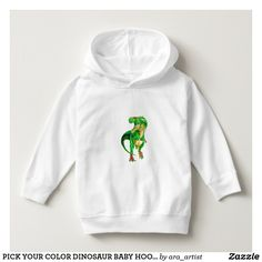 PICK YOUR COLOR DINOSAUR BABY HOODIE!