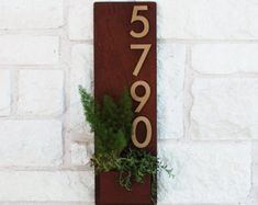 Appreciation Note, Bohemian House, Address Plaque, Neodymium Magnets, Steel Wall, House Numbers, Succulents, Etsy Seller, Unique Jewelry