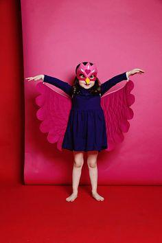 TRAJE de Agapornis / alas sistema suaves con máscara / / volar