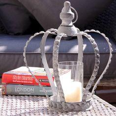 Crown Lantern Tealight Holder at lisaangel.co.uk