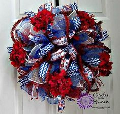 Patriotic-red-white-and-blue-deco-mesh-wreath