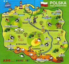 Polish Symbols, Learn Polish, Carol Songs, Polish Language, Maps For Kids, Polish Recipes, Polish Food, Family Roots, Thinking Day