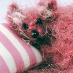 Little Pink Mouse Textile Ornament - Cute Creature, Paradis Terrestre - Luxury British Made Accessories & Homeware