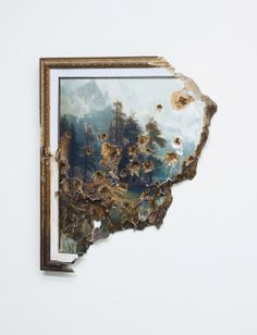 Bierstadt with Holes (detail), 2007 by Valerie Hegarty