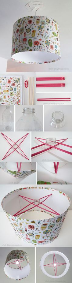 Do you think that you need some new lampshades to spice up your home? If you think that it's time to change your lampshades, why not use the DIY tutorials and make your own styles of lampshades. Home Crafts, Diy Home Decor, Diy And Crafts, Decor Crafts, Room Decor, Ideas Paso A Paso, Diy Lampe, Deco Luminaire, Diy Y Manualidades