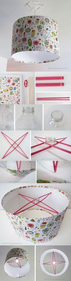 Sencilla lámpara reciclada
