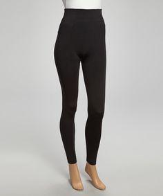 Black Faux Fur-Lined Leggings