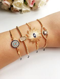 Eye Evil Bracelet Gold 49 Ideas For 2019 Diamond Bracelets, Cartier Love Bracelet, Silver Bracelets, Jewelry Bracelets, Silver Jewelry, Bangle Bracelet, Craft Jewelry, Charm Armband, Gold Armband