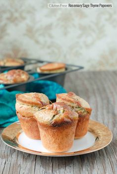 Rosemary Sage Thyme Popovers {gluten-free}. Airy, custard popovers are the perfect match to make any meal special! BoulderLocavore.com