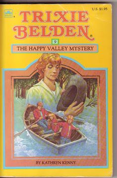 Trixie Belden, The Happy Valley Mystery, square paperback version, 1984