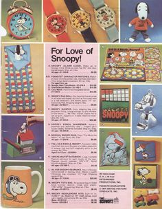 fao schwarz #toy #catalogue #1974 #Snoppy