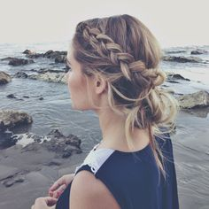Cute loose braided bun