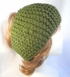 Ladies Hand Knit Headband in Moss Green