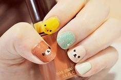animal nails | Tumblr