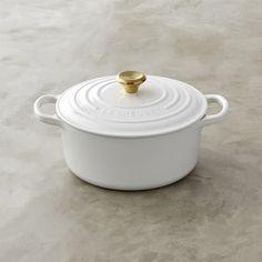 Le Creuset Signature Cast-Iron Dutch Oven with Gold Knob #williamssonoma