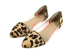 Casual Laconic Women's Spring Flat Shoes With Splicing and Leopard