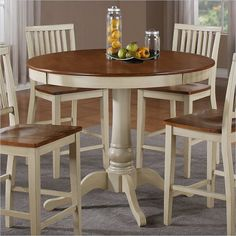 Amazing Hillsdale Brookside 5 Piece Stone Top Round Dinette Set | Dinette Sets,  Round Dining Set And Round Dining