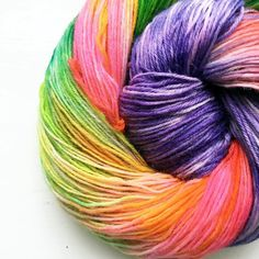 It amazes me every time what beautiful colours and creations are dyed at the yarn retreats. This was a very first go at yarn dyeing - isn't it stunning?  If you want to join us and learn how to dye yarn new dates are on the website now