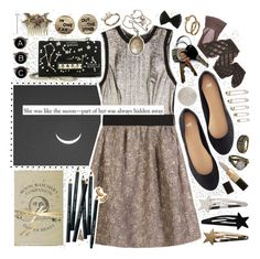 """""""She Was Like The Moon."""" by nerdygalwithwings ❤ liked on Polyvore featuring Proenza Schouler, H&M, Valentino, Bobbi Brown Cosmetics, Gypsy, Mudd, Wolford, Rock 'N Rose, Vintage Collection and BOBBY"""