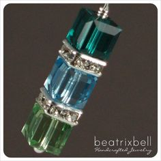 birthstone necklace with 3 crystals