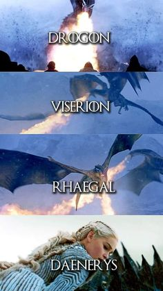 Drogon, viserion, rhaegal and daenerys targaryen Drogon Game Of Thrones, Game Of Thrones Dragons, Got Game Of Thrones, Got Dragons, Mother Of Dragons, Winter Is Here, Winter Is Coming, Khaleesi, Daenerys Targaryen
