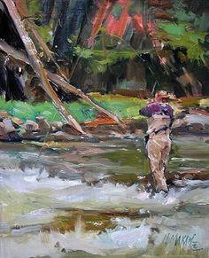 Pocket Water     oil painting     Mary Maxam