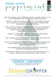 Peppermint oil  #YLEO #Lemondropper #oil