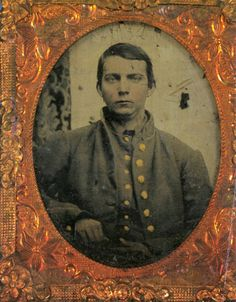 Henry Benjamin Davis (1840-1864), photo taken 1864, Corinth, Mississippi, 64 Illinois Infantry (Yates' Sharpshooters), Company D; Born Cherokee, Alabama, married Jan 1860 Susan Ellen Grimes in Franklin, Alabama, died Marietta, Georgia