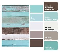 Paint colors from ColorSnap by Sherwin-Williams Farmhouse Paint Colors, Paint Colors For Home, Room Colors, House Colors, Paint Color Schemes, Beach Cottage Decor, Living Room Paint, Exterior Paint, House Painting