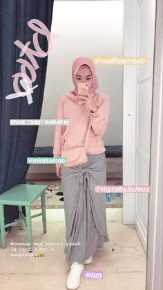 Casual Hijab Outfit, Ootd Hijab, Casual Outfits, Hijab Fashion Inspiration, Style Inspiration, Girl Fashion, Fashion Outfits, Womens Fashion, Muslim Fashion