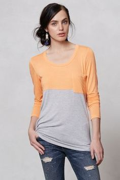 Duo Colorblocked Top: Anthro