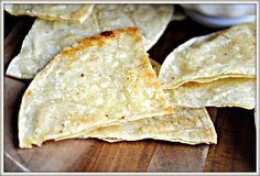 I think I'll add chili to these and make them chili lime tortilla chips