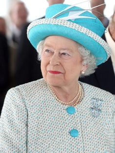 Here is HM Queen Elizabeth wearing the Boucheron Aquamarine and Diamond Clips during her and HRH Prince Philip's historic visit to Ireland in 2011