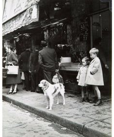 Scène de rue, Paris, 1952, Herbert Tobias. Germany (1924 - 1982)