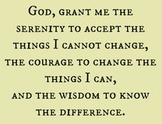 Amen. Serenity prayer, can't wait for me and Makenzie's rings
