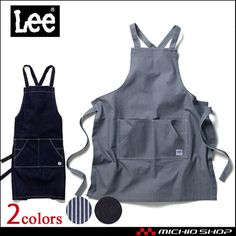Leeリー胸当てエプロンLCK79003作業服デニムヒッコリーストレッチ