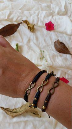 infinity bracelet, wrist bracelet, macrame bracelet, micro macrame, macrame handmade, macrame jewelry, boho bracelet, friendship bracelet by NarkisMacrame on Etsy
