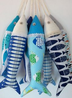 Items similar to Handmade traditional Portuguese sardines in fun, contemporary fabrics. on Etsy