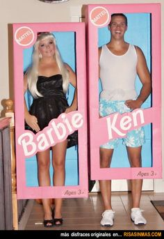 Disfraces originales: Barbie y Ken.
