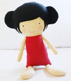 Doll Sewing Pattern Toy Cloth Doll Pattern PDF  Ruby & by ElfPop